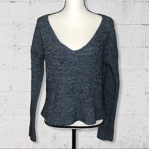 Brandy Melville V Neck Wool Blend Sweater OS